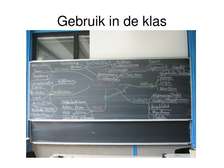 Gebruik in de klas