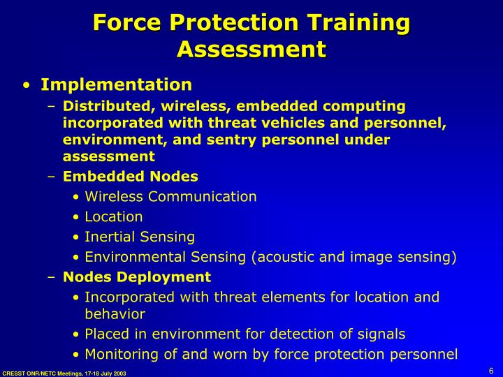 Force Protection Training