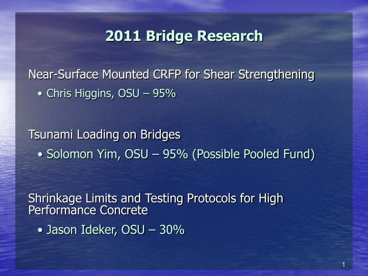 2011 bridge research n.
