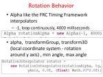 rotation behavior