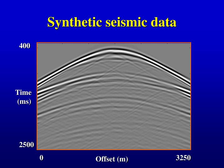 Synthetic seismic data