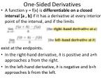 one sided derivatives