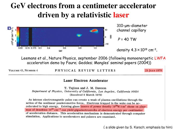 GeV electrons from a centimeter accelerator