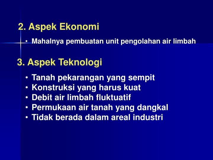 2. Aspek Ekonomi