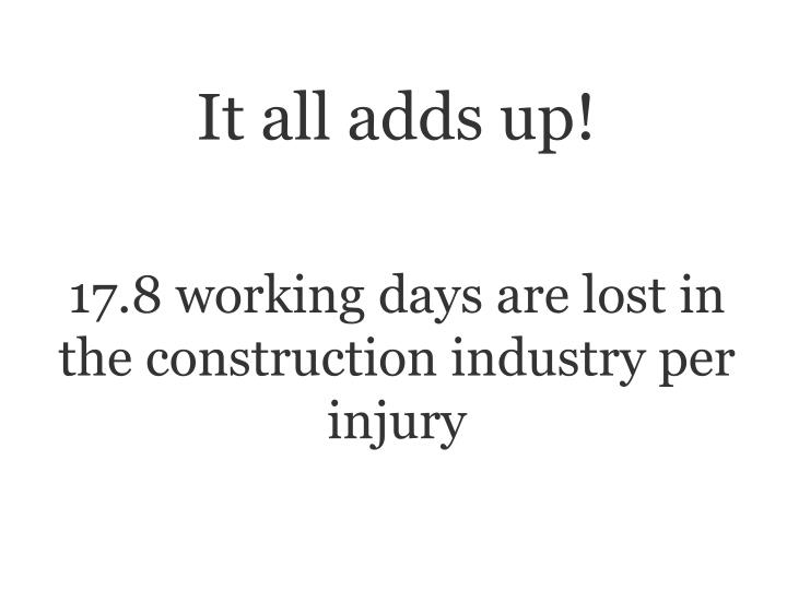 It all adds up!