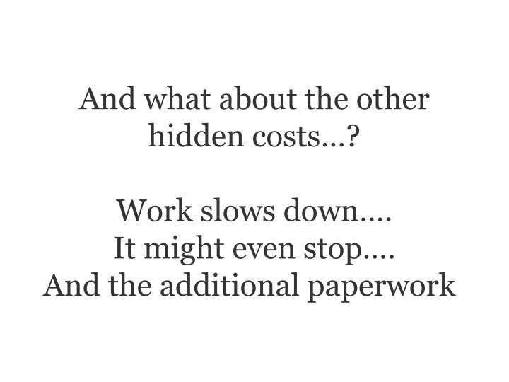 And what about the other hidden costs…?