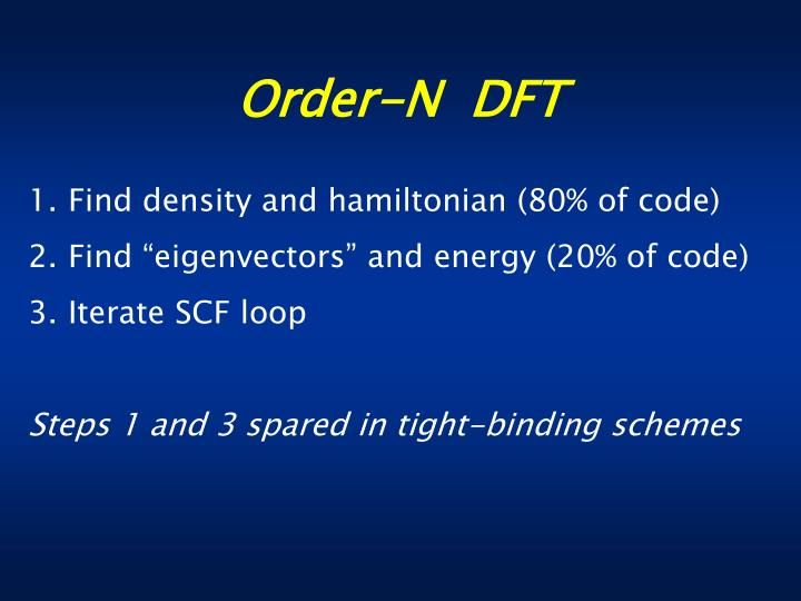 Order n dft