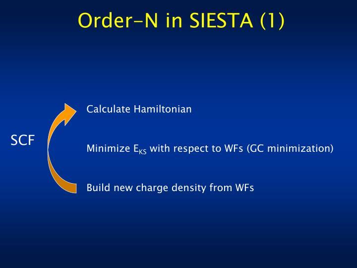 Order-N in SIESTA (1)
