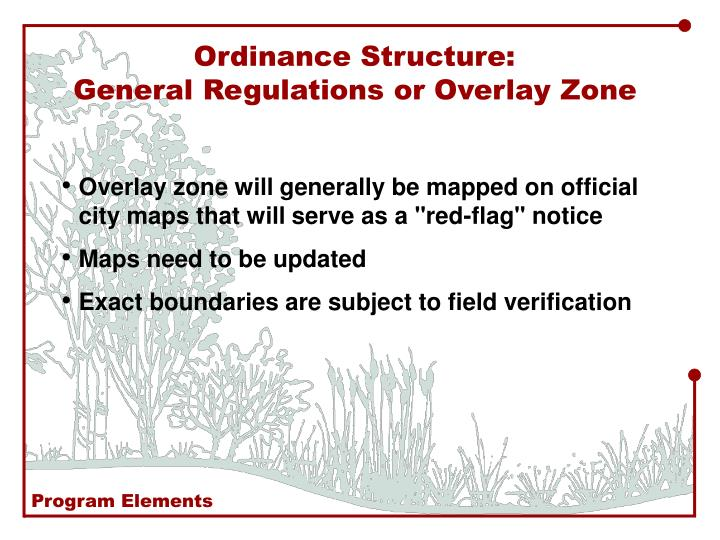 Ordinance Structure: