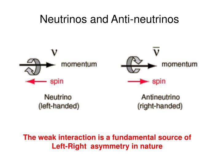 Neutrinos and Anti-neutrinos