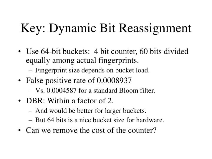 Key: Dynamic Bit Reassignment
