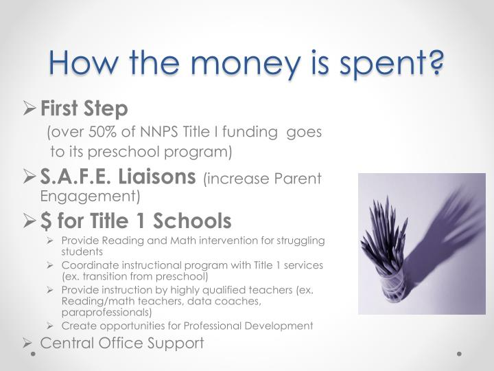 How the money is spent?