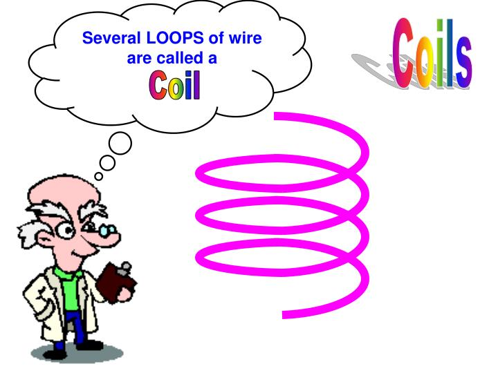 Several LOOPS of wire are called a