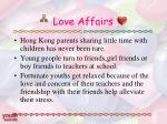 love affairs