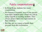 public examinations