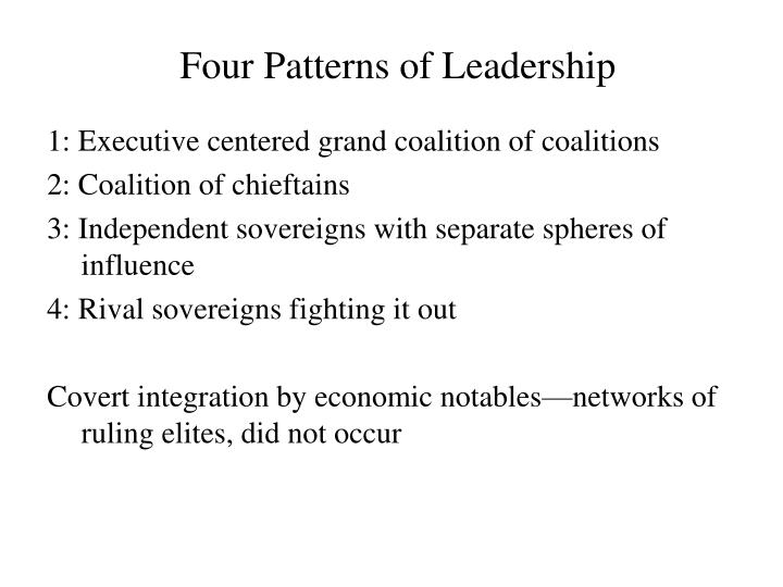 Four Patterns of Leadership
