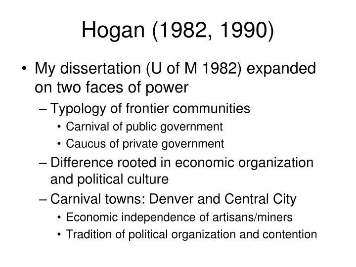 Hogan (1982, 1990)