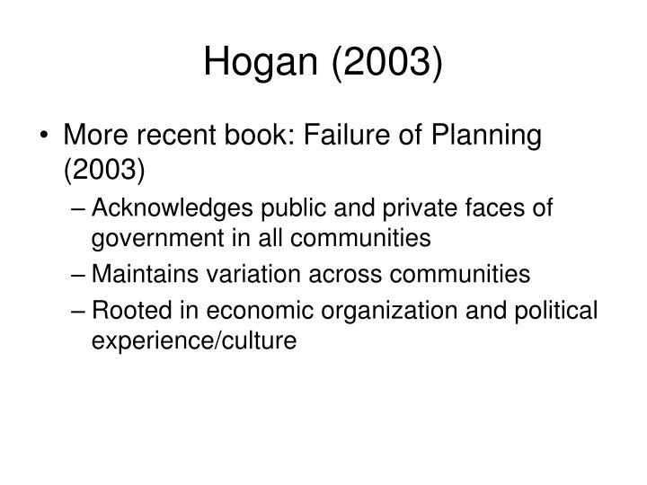 Hogan (2003)