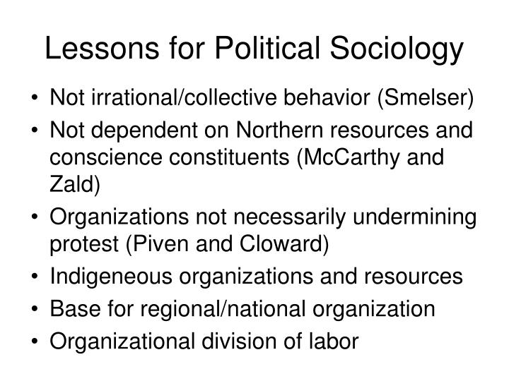 Lessons for Political Sociology