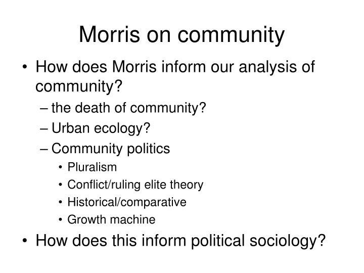 Morris on community