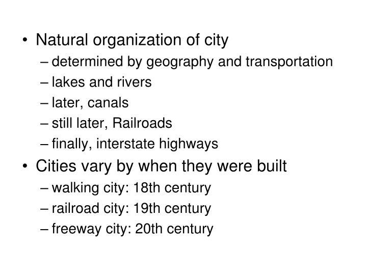 Natural organization of city