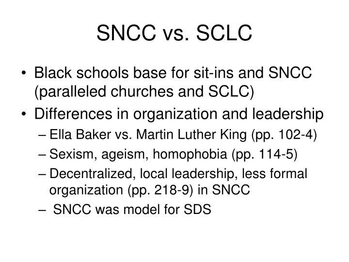 SNCC vs. SCLC