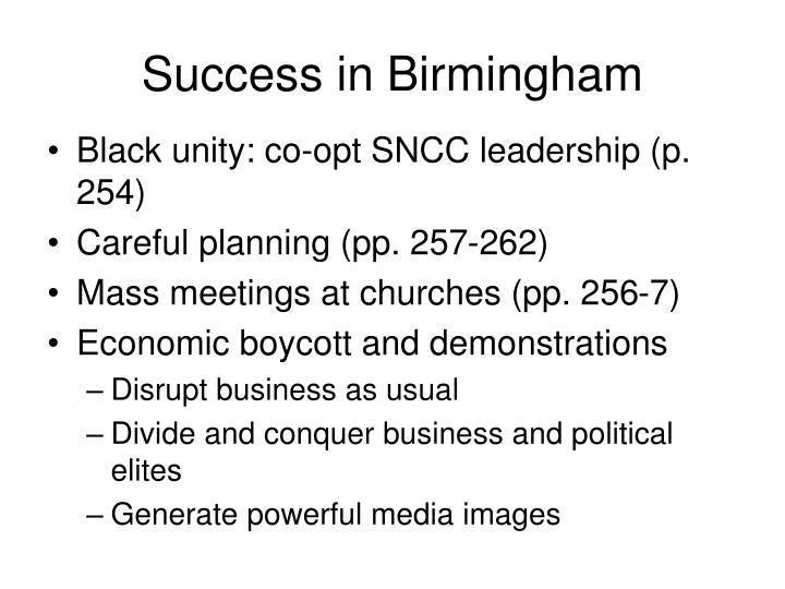 Success in Birmingham