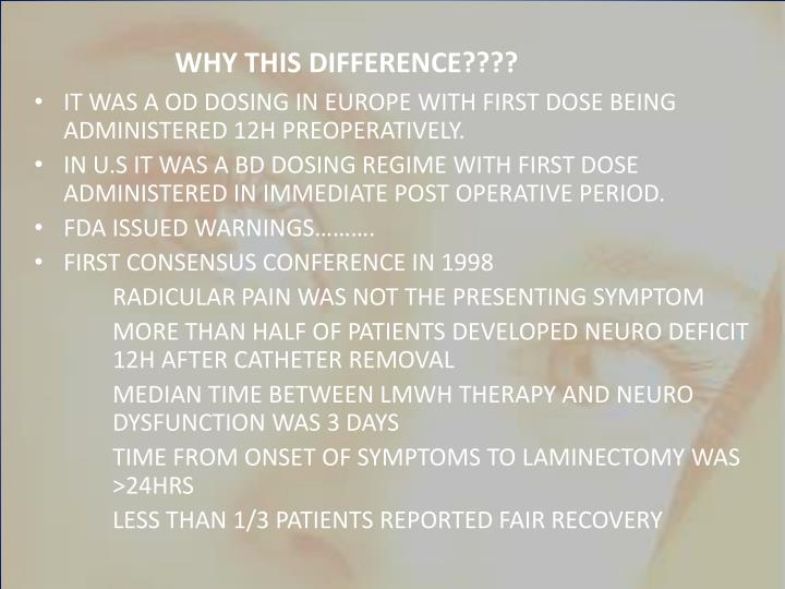 WHY THIS DIFFERENCE????