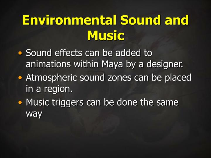 Environmental Sound and Music