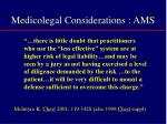 medicolegal considerations ams