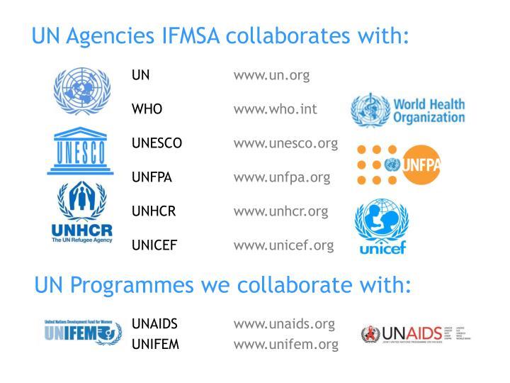 UN Agencies IFMSA