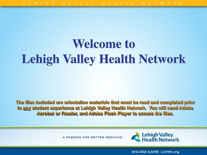 Welcome to lehigh valley health network