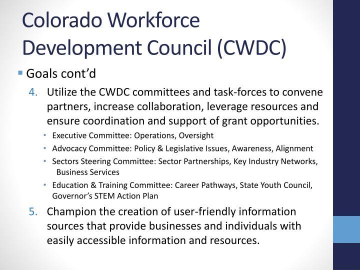 Colorado Workforce Development Council (CWDC)