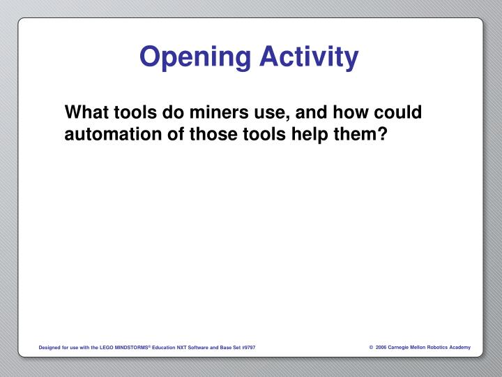 What tools do miners use, and how could automation of those tools help them?