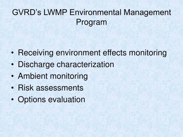 GVRD's LWMP Environmental Management Program