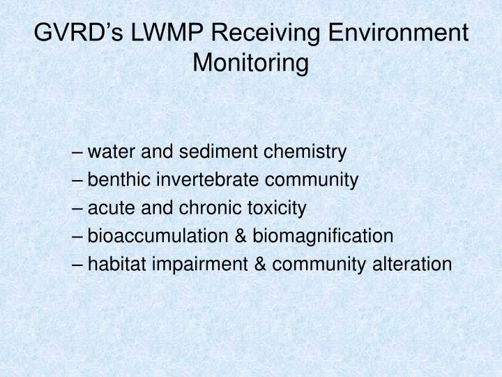GVRD's LWMP Receiving Environment Monitoring
