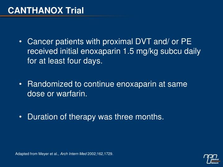 CANTHANOX Trial
