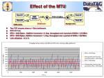 effect of the mtu
