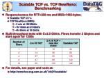 scalable tcp vs tcp newreno benchmarking