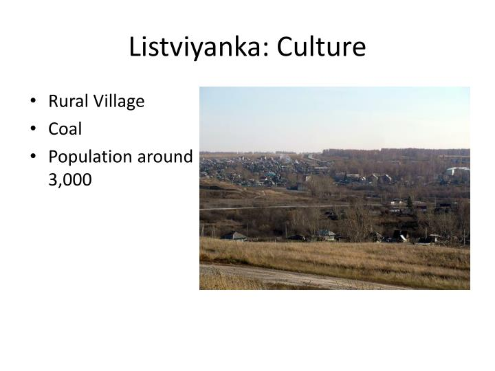 Listviyanka: Culture