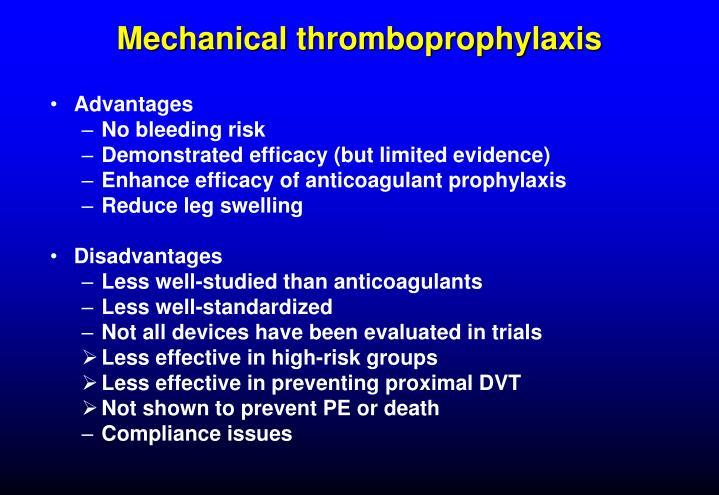Mechanical thromboprophylaxis