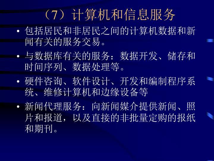 (7)计算机和信息服务