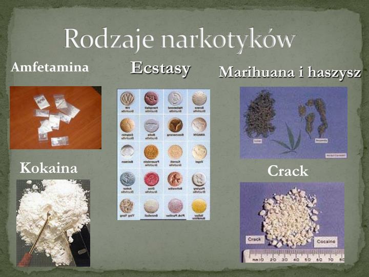 Rodzaje narkotyków