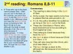 2 nd reading romans 8 8 111