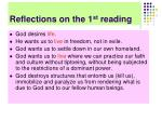 reflections on the 1 st reading