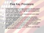 five key provisions