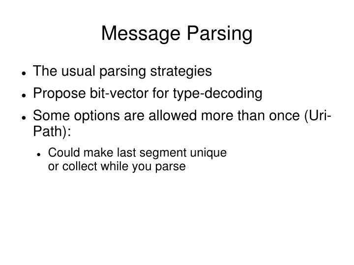 Message Parsing