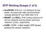 ietf working groups 1 of 2