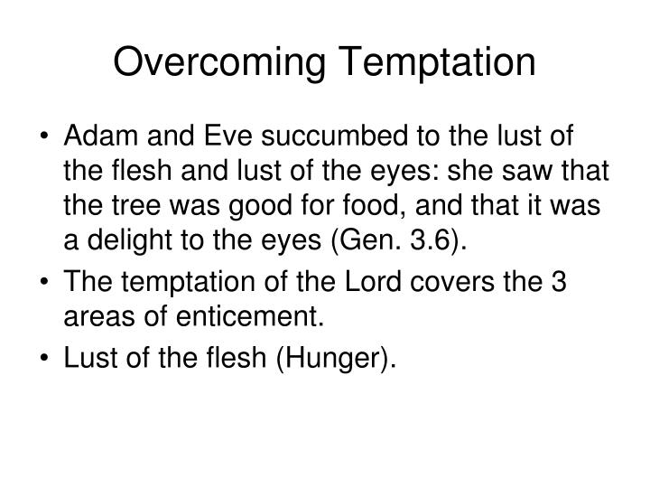 Overcoming temptation2