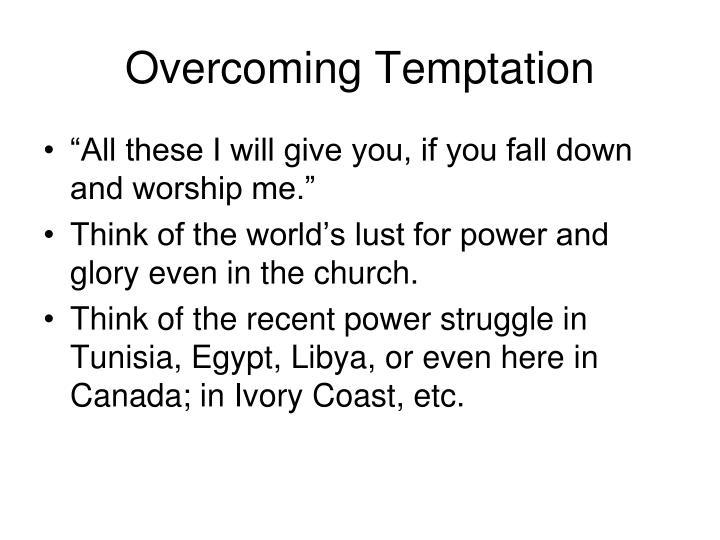 Overcoming Temptation